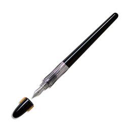 Plumix de Pilot - Stylo plume de calligraphie - plume fine - corps noir (photo)