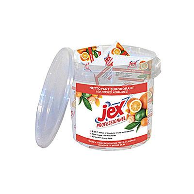 100 doses de nettoyant surodorant Jex - parfum agrumes (photo)