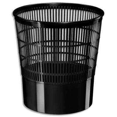 Corbeille à papier ajourée Ecoline de CEP - 16 litres - noir (photo)