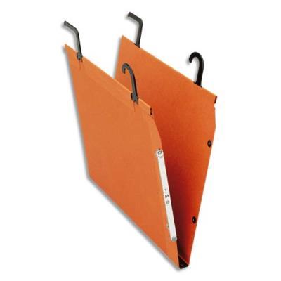 dossiers suspendus tmg en kraft orange pour suspension sur tube fond v bouton pression. Black Bedroom Furniture Sets. Home Design Ideas