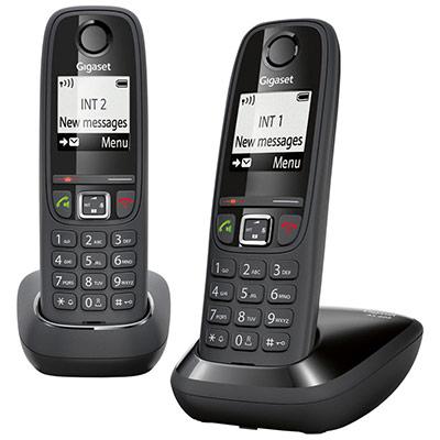 Téléphone sans fil AS405 duo - noir (photo)