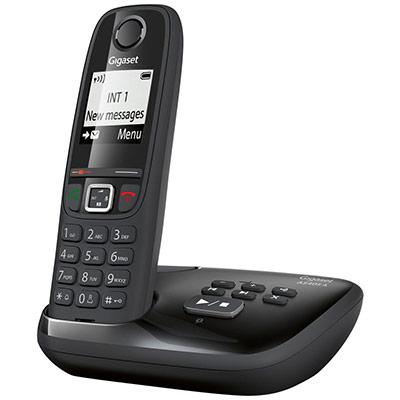 Téléphone sans fil AS405A avec répondeur - noir (photo)