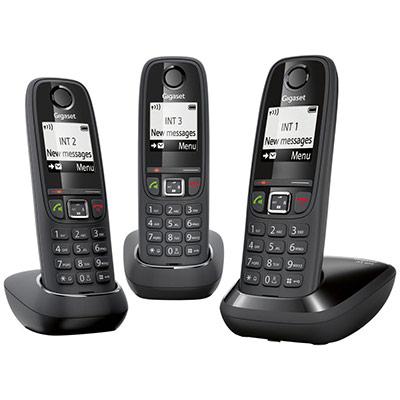 Téléphone sans fil AS405 trio - noir (photo)