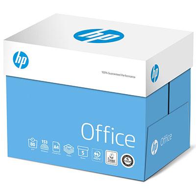 Papier A4 blanc 80g HP Office - boîte de 2500 feuilles (photo)