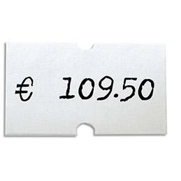 Rouleaux de 1000 étiquettes 21 x 12 mm pour pinces 151991-101418 - pack de 6 (photo)