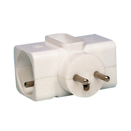 Adaptateur Safetool 3 multiprises  - 3500W - 6A - blanc (photo)