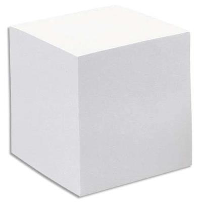 Recharge bloc cube blanc Quo Vadis - 9 x 9 x 7,5 cm - 580 feuilles mobiles 90 g - PEFC