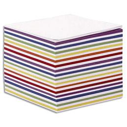 Recharge bloc cube blanc et couleur Quo Vadis - 9 x 9 x 7,5 cm - 580 feuilles mobiles 90 g - PEFC