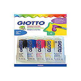 Blister de 5 tubes de gouache Omyacolor - 10 ml - couleurs primaires (photo)