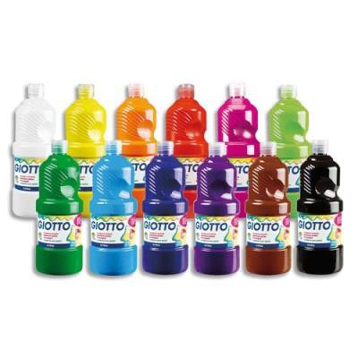 Gouache liquide - pack de 8 x 1 litre - Giotto - couleur assorties