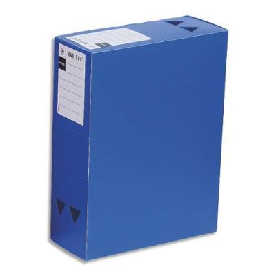 boite de classement maxidoc en polypropyl ne 12 10 me dos 12 cm coloris bleu opaque achat. Black Bedroom Furniture Sets. Home Design Ideas