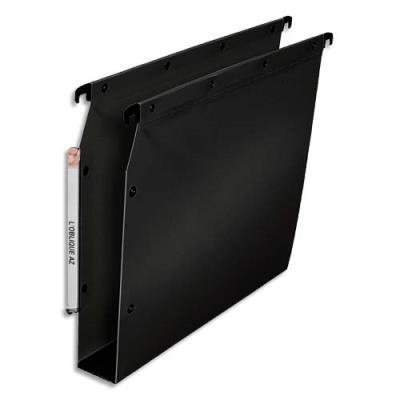 Dossiers suspendus L'oblique AZ polypro fun 330 - fond 50 mm - pour armoire - noir - lot de 10
