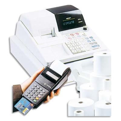 Bobine terminaux carte bancaire thermique 1 pli - sans bisphénol A - format 57 x 40 x 12 mm (photo)