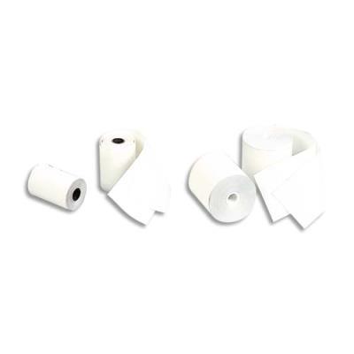 Bobine de papier thermique pour caisse et TPV - format 80 x 80 x 12 mm - 1 pli - longueur 78 m (photo)