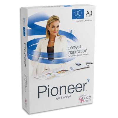 Papier Pioneer - extra blanc - 90 g - A3 - ramette de 500 feuilles
