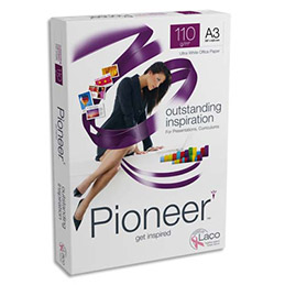 Papier Pioneer - extra-blanc - 110 g - A3 - ramette de 250 feuilles