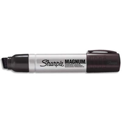 Marqueur permanent Sharpie - pointe biseautée extra large - corps métal - noir