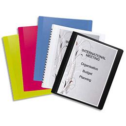 Protège-documents Elba Flexam à pochettes amovibles en polypro 7/10e - 15 pochettes - 30 vues - coloris assortis opaque