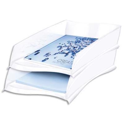 Corbeille à courrier Cep Isis - format 38x8,2x27,5 cm - coloris blanc arctique