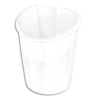 Corbeille à papier  Cep Isis - 15 litres - coloris blanc arctique (photo)