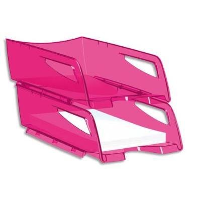 Corbeille à courrier maxi Cep Happy - 25x10,1x34 cm - rose indien