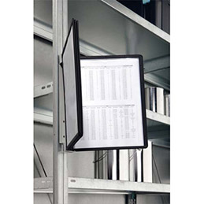 support mural vario 5 magn tique cadre noir fourni avec 5 pochettes pour format a4 achat. Black Bedroom Furniture Sets. Home Design Ideas