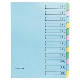 Trieur 12 compartiments Coutal - carte dossier rigide - bleu (photo)