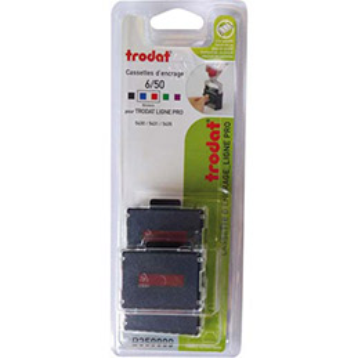 Blister de 3 recharges Trodat 6/50/2 bicolores pour 5430L (photo)