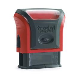 Tampon Trodat 4910 personnalisable - utilisation bureau - format 26x9 mm - rouge (photo)