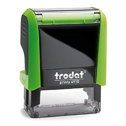 Tampon Trodat 4910 personnalisable - utilisation bureau - format 26x9 mm - vert