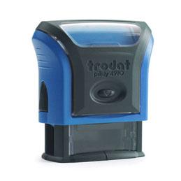 Tampon Trodat 4910 personnalisable - utilisation bureau - format 26x9 mm - bleu (photo)