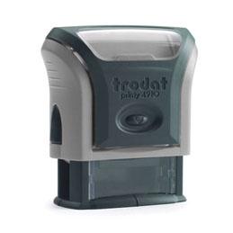 Tampon Trodat 4910 personnalisable - utilisation bureau - format 26x9 mm - gris (photo)
