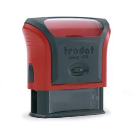 Tampon Trodat 4911 personnalisable - utilisation bureau - format 38X14 mm - rouge (photo)