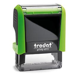 Tampon Trodat 4911 personnalisable - utilisation bureau - format 38X14 mm - vert