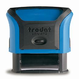 Tampon Trodat 4912 personnalisable - utilisation bureau - format 47X18 mm - bleu (photo)