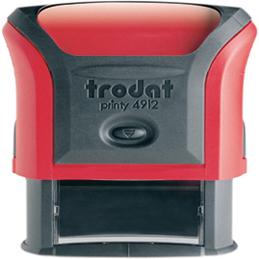 Tampon Trodat 4912 personnalisable - utilisation bureau - format 47X18 mm - rouge (photo)
