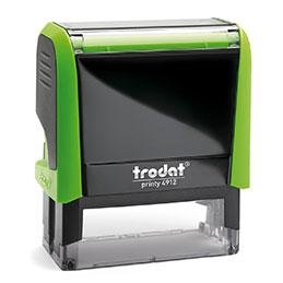 Tampon Trodat 4912 personnalisable - utilisation bureau - format 47X18 mm - vert