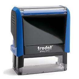 Tampon Trodat 4913 personnalisable - utilisation bureau - format 58X22 mm - bleu
