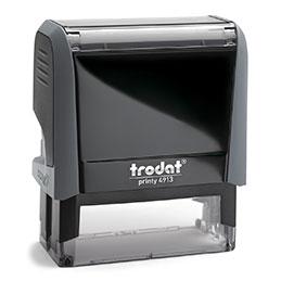 Tampon Trodat 4913 personnalisable - utilisation bureau - format 58X22 mm - gris