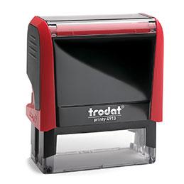 Tampon Trodat 4913 personnalisable - utilisation bureau - format 58X22 mm - rouge