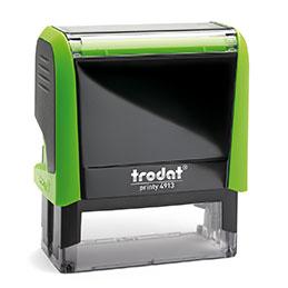 Tampon Trodat 4913 personnalisable - utilisation bureau - format 58X22 mm - vert