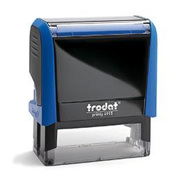 Tampon Trodat 4915 personnalisable - utilisation bureau - format 70X25mm - bleu