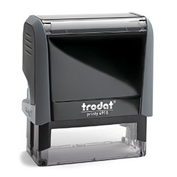Tampon Trodat 4915 personnalisable - utilisation bureau - format 70X25 mm - gris