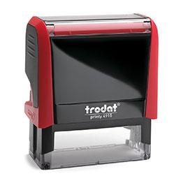 Tampon Trodat 4915 personnalisable - utilisation bureau - format 70X25 mm - rouge