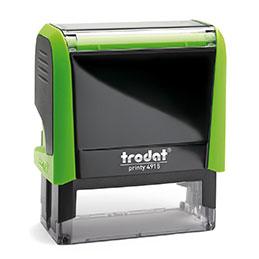 Tampon Trodat 4915 personnalisable - utilisation bureau - format 70X25 mm - vert