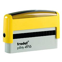Tampon Trodat 4916 personnalisable - utilisation bureau - format 70x10 mm - jaune