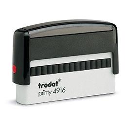 Tampon Trodat 4916 personnalisable - utilisation bureau - format 70x10 mm - noir