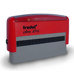 Tampon Trodat 4916 personnalisable - utilisation bureau - format 70x10 mm - rouge