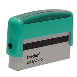 Tampon Trodat 4916 personnalisable - utilisation bureau - format 70x10 mm - menthe