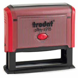 Tampon Trodat 4918 personnalisable - utilisation bureau - format 75x15 mm - rouge (photo)